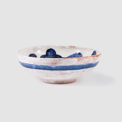 Picture of azure flower bowl