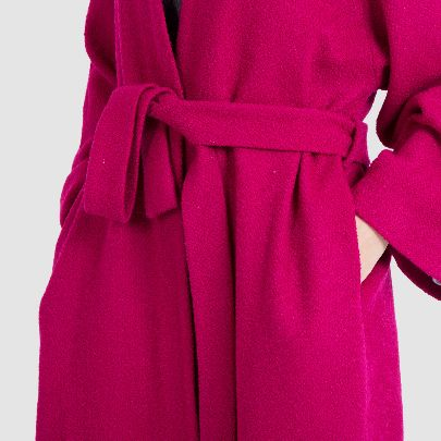 Picture of pink overcoat with belt