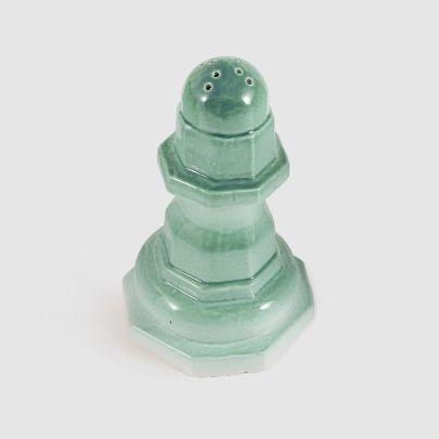 تصویر نمکدان سرامیکی سبز آبی بزرگ