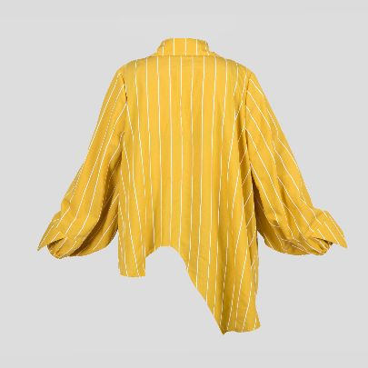 Picture of mustard stripes blouse