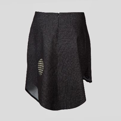 Picture of black polka dots skirt
