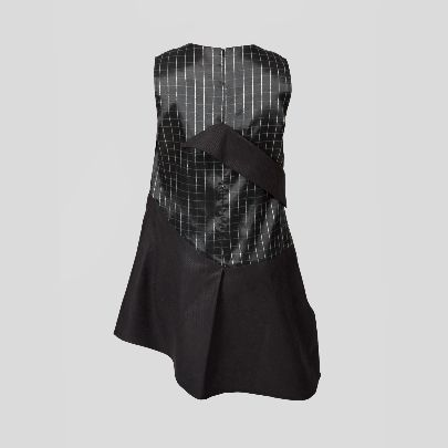 Picture of black stripes dress