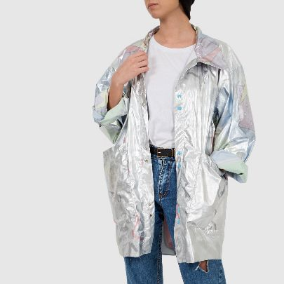 Picture of space raincoat