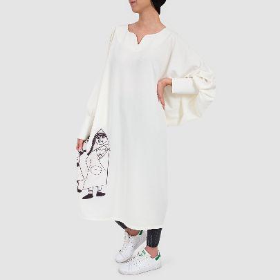 تصویر پیراهن قاجار سفید