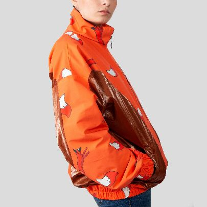 Picture of vintage jacket with fox pattern