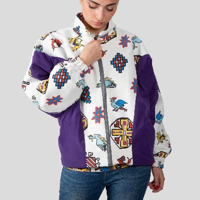 Picture of vintage jacket with rug pattern