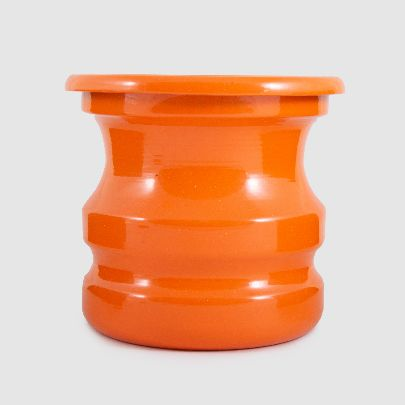 تصویر گلدان نارنجی