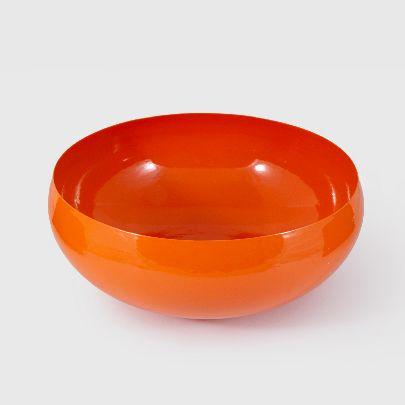 تصویر گلدان گرد نارنجی