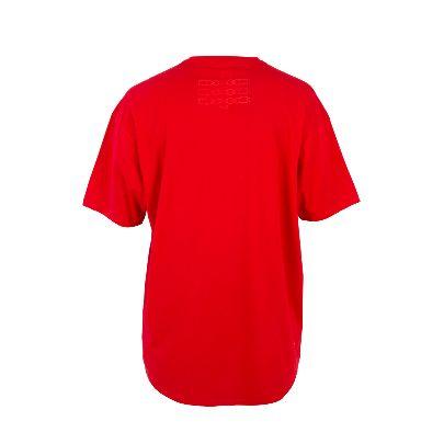 تصویر آستین کوتاه قرمز بلند