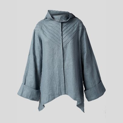 Picture of blue grey blouse