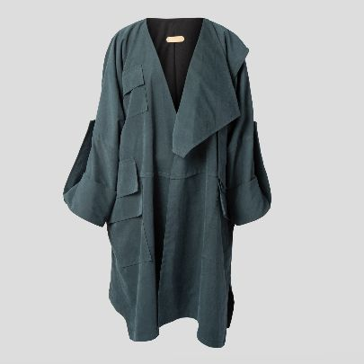 Picture of green mantua with pocket