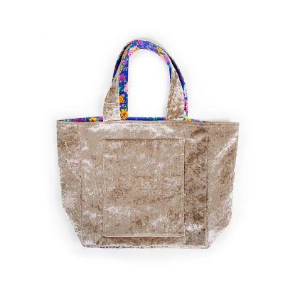 Picture of velvet handbag