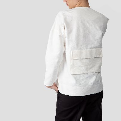 Picture of white shirt coat