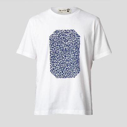 تصویر آستین کوتاه هندسه آبی مردانه