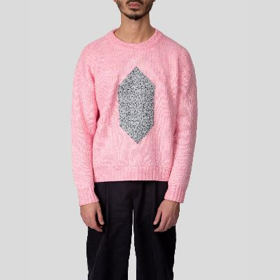 Picture of pink patch sweater