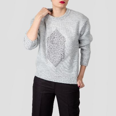 Picture of grey patch sweater