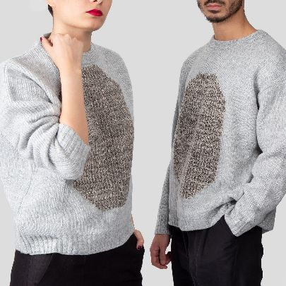 Picture of grey jacquard sweater