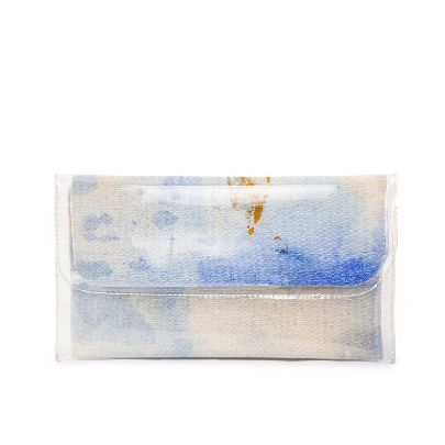 Picture of small size white water color handbag