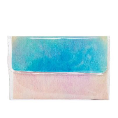 Picture of big size blue water color handbag