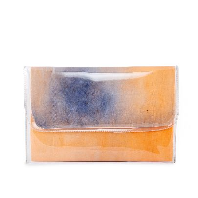 Picture of big size orange water color handbag