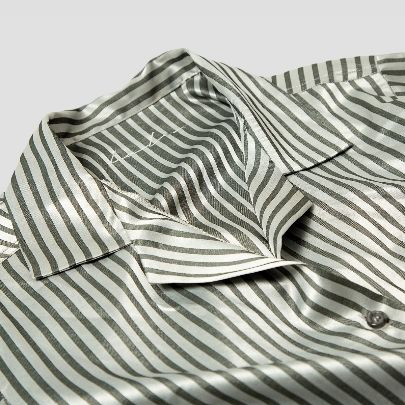 Picture of silver striped pajamas