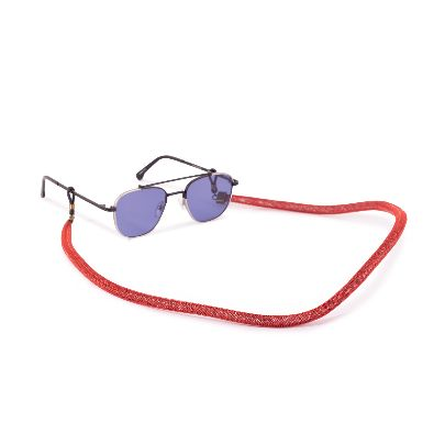 Picture of red sunglasses strap