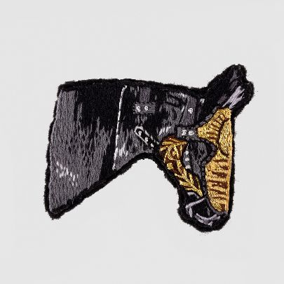 Picture of black horse pin