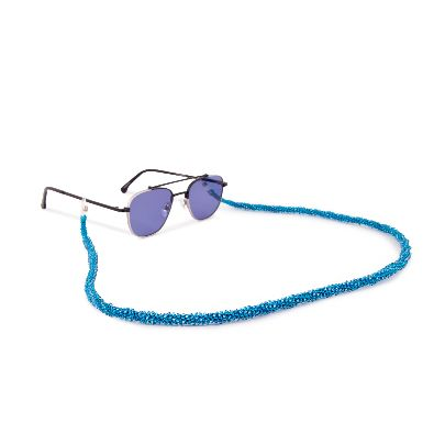 Picture of blue sunglasses strap