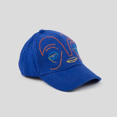 Picture of navy blue face cap