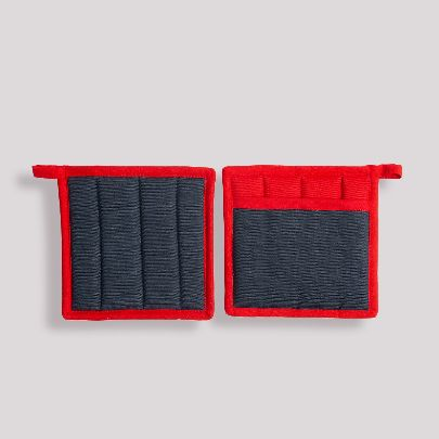 Picture of red square pot gloves