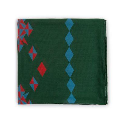 تصویر روسری سبز تیره