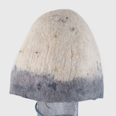 Picture of cream and gray lampshade