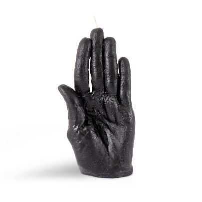 Picture of black hand candle