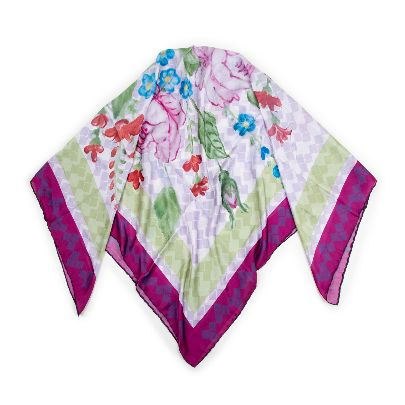 Picture of colorful flowers garden scarf
