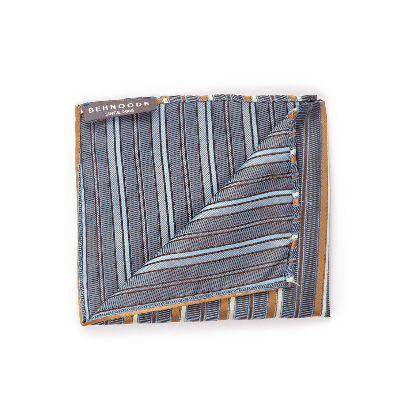 تصویر دستمال جیبی راه راه آبی