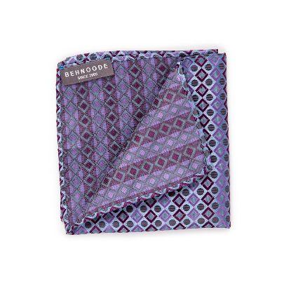 تصویر دستمال جیبی راه راه بنفش