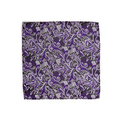 تصویر دستمال جیبی طرحدار بنفش