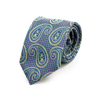 Picture of yellow blue paisley tie