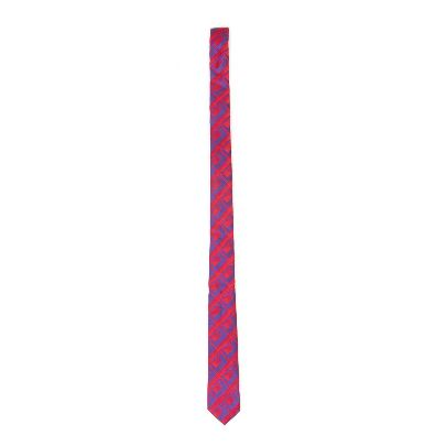 Picture of red blue patterned tie