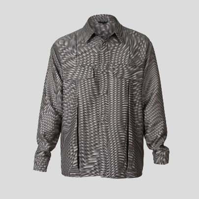 Picture of grey blouse with cut