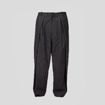 Picture of dark grey pants with two pleat