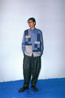 Picture of grey check pants