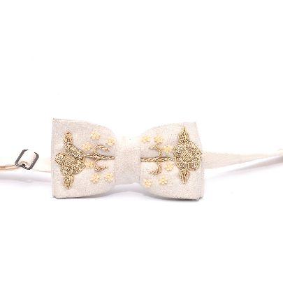 Picture of white persian gardens bow tie