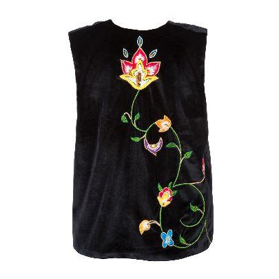 Picture of colourfull velvet vest