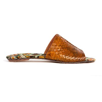 Picture of mehrnoosh shahhoseini men snake skin sandals