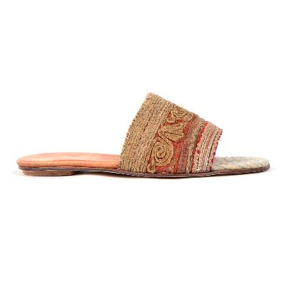 Picture of mehrnoosh shahhoseini brocade fabric sandals