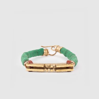 Picture of pasha moezzi brass with green leather
