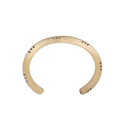 تصویر دستبند ۶ دندانه ای برنجی