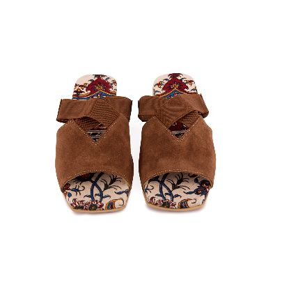 Picture of brown flat shoes
