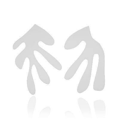 تصویر گوشواره سفید ۲ ل جرب هنری ماتیس